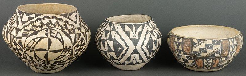 Acoma Black & White & Polychrome Bowls (ca. 1920 -