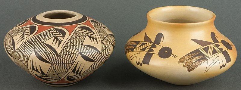 Lot of 2: Hopi Black & White Pots
