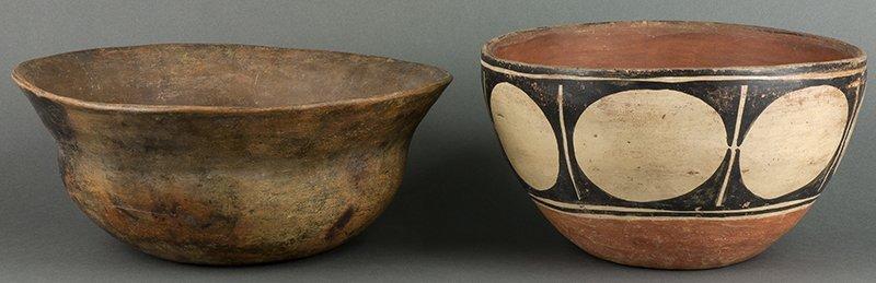 Hopi Stew Bowl (ca. 1870s) & Santo Domingo Dough Bowl