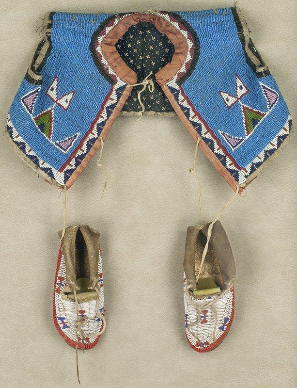 Sioux Child's Vest & Moccasins (ca. 1890 - 1910)