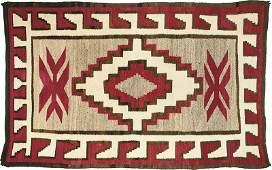 Navajo Rug, Red, Gray, Cream, & Black (ca. 1940's)
