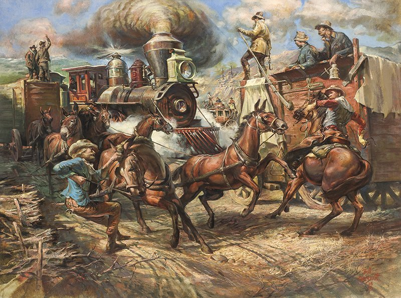 William Harry Ahrendt   First Train to Globe
