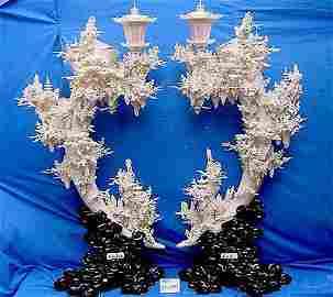 Pair of 60 inch Bone Fairies Mountain Lanterns 9503
