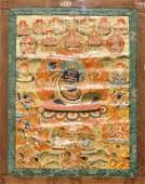 A thangka depicting Mahakala, Tibet or Nepal, 19/20th