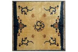 A Chinese Ningxia dragon carpet ca 1900