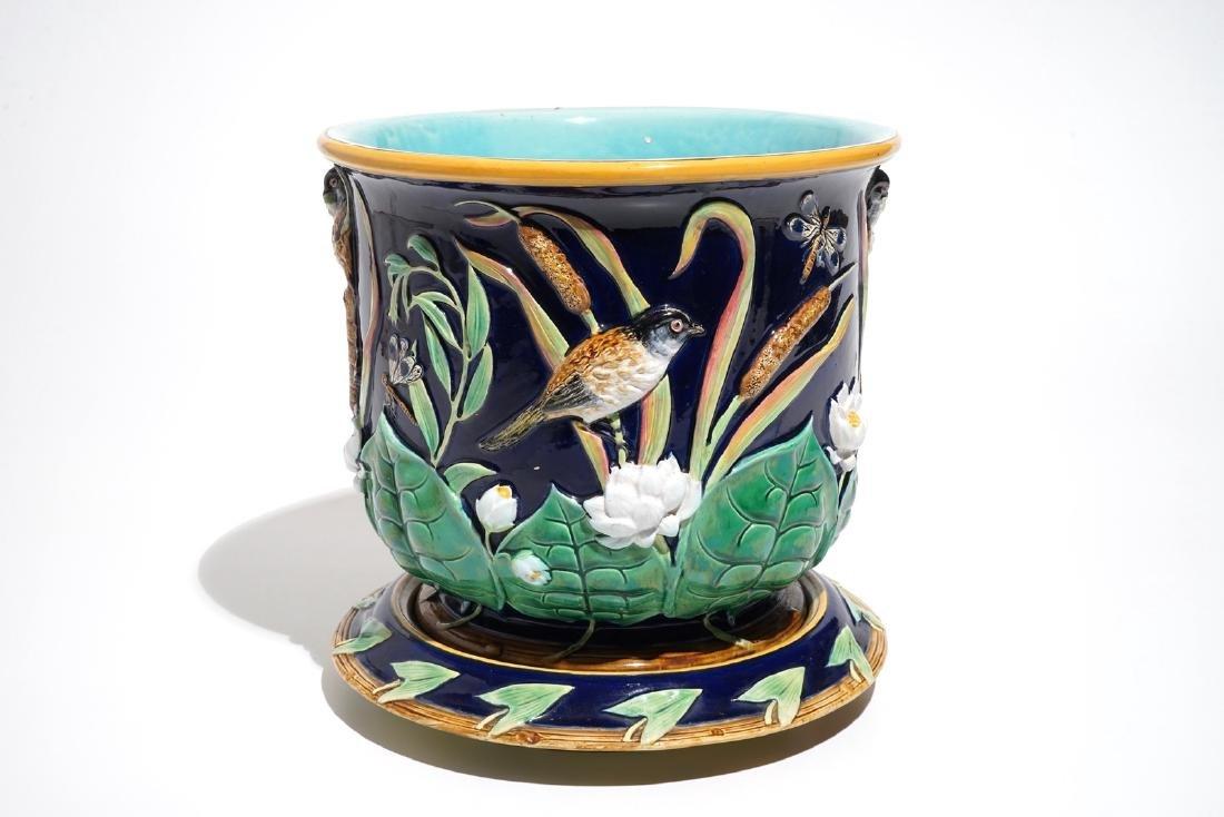 A George Jones Art Nouveau majolica jardiniere on