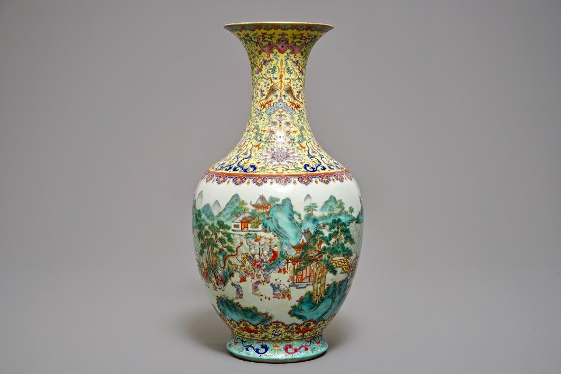A Chinese famille rose 'hundred boys' vase, Jiaqing