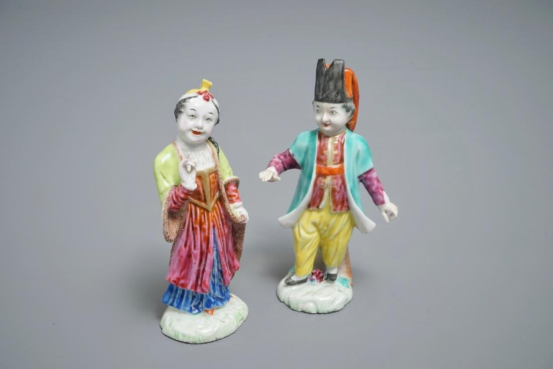 A pair of Chinese famille rose Meissen-style