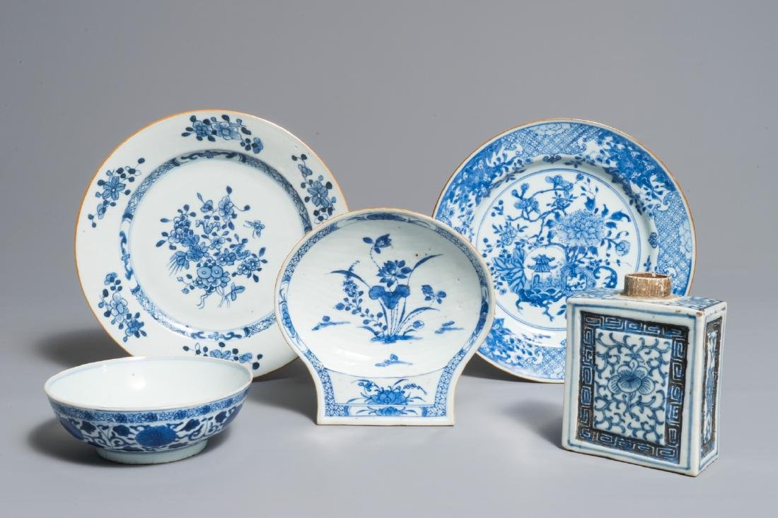 A varied selection of Chinese blue and white wares,