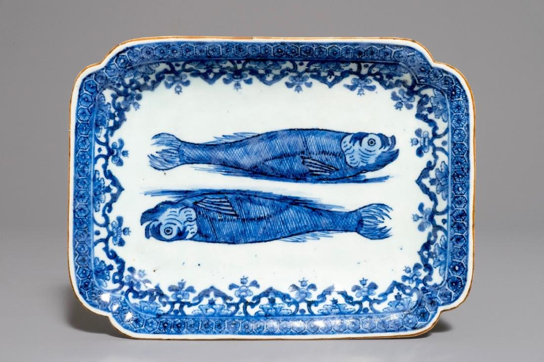 A Chinese blue and white herring dish for the Dutch