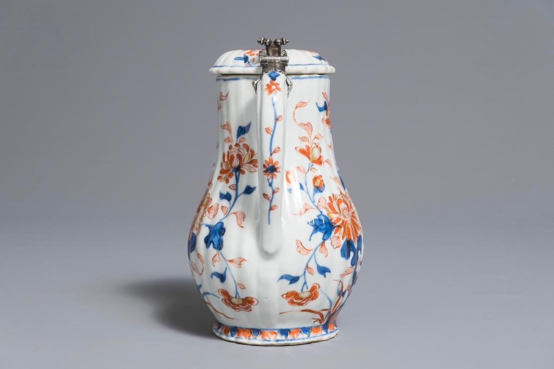 A Chinese Imari-style covered jug with French silver - 2