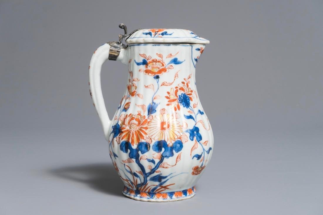A Chinese Imari-style covered jug with French silver - 3