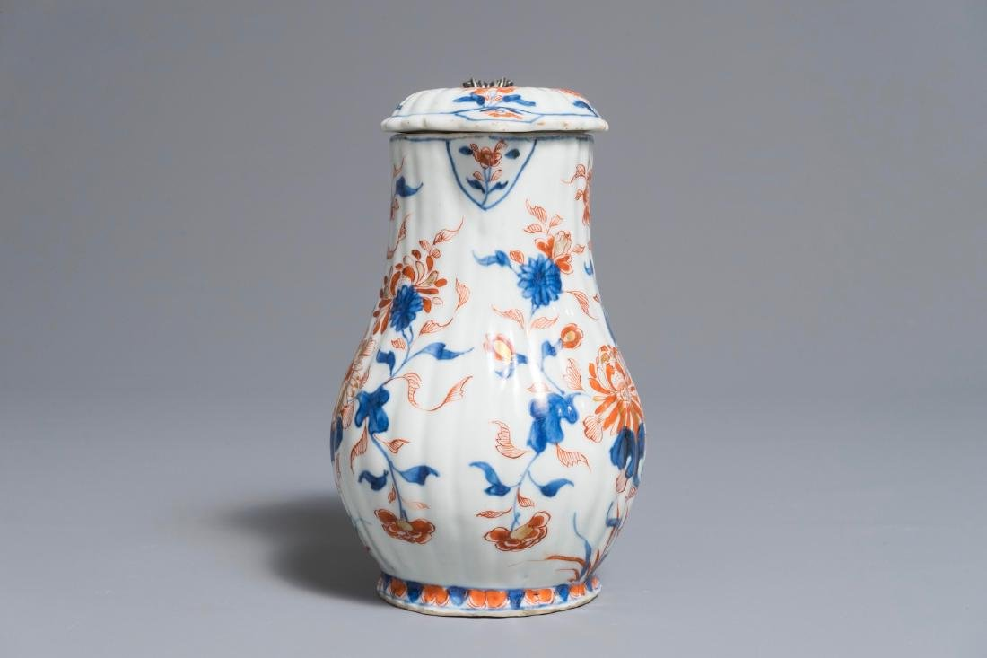 A Chinese Imari-style covered jug with French silver - 4