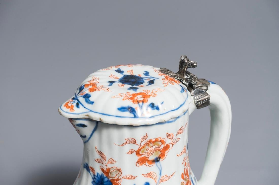A Chinese Imari-style covered jug with French silver - 6