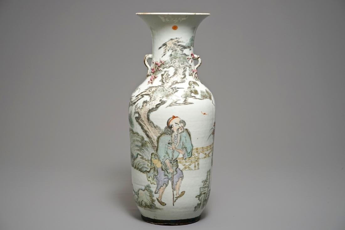 A fine Chinese qianjiang cai vase, 19/20th C.