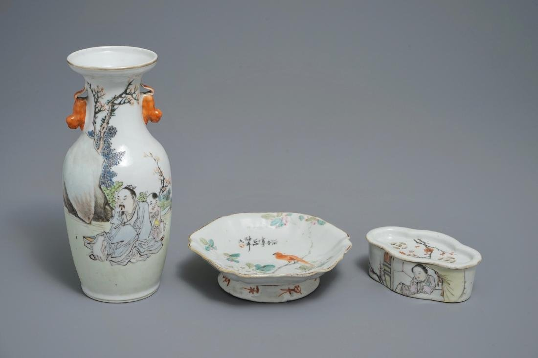 A group of Chinese qianjiang cai wares signed for Xu
