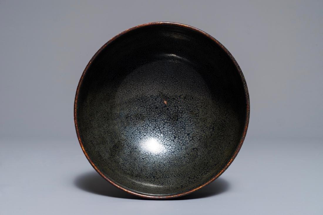 A Chinese Cizhou oil spot glazed bowl, Jin/Yuan style,