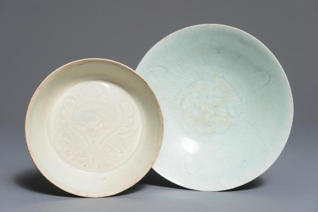 A Chinese Dingyao dish and a Qingbai bowl, Song or