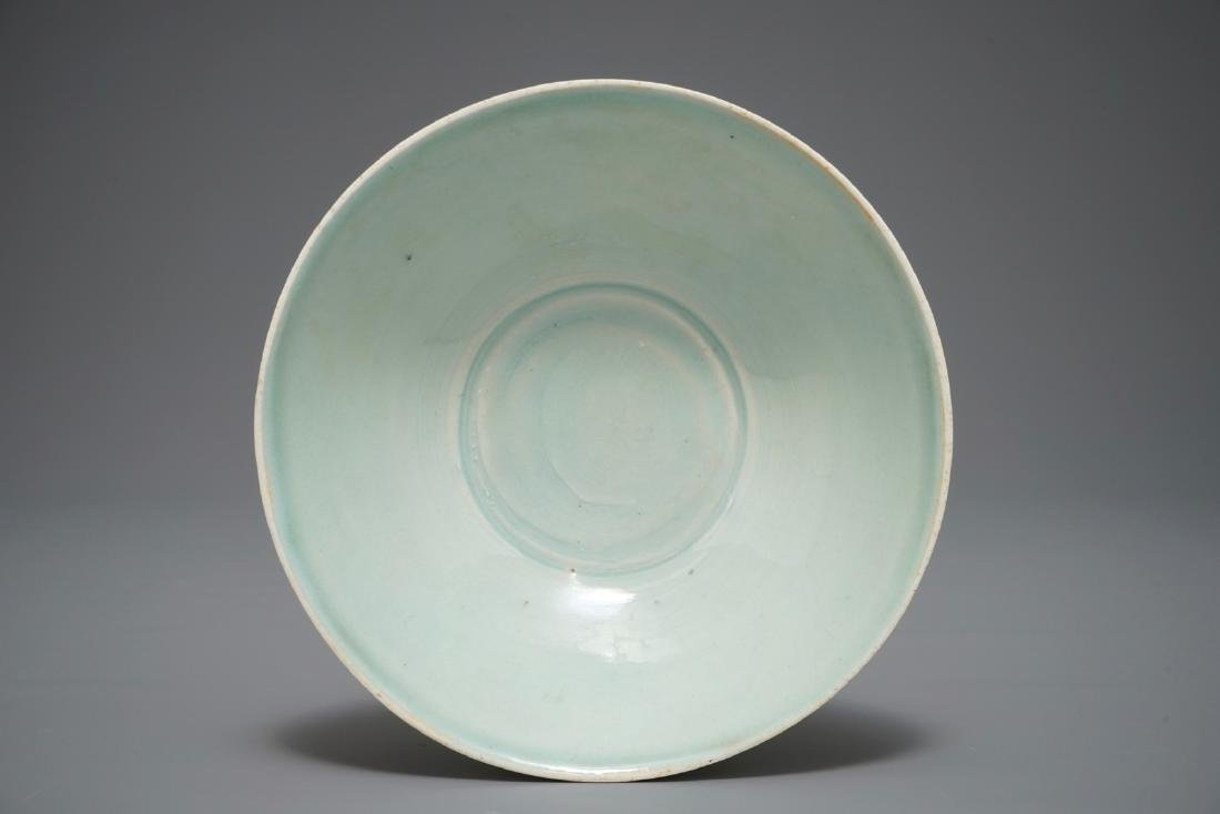 A Chinese incised qingbai bowl with underglaze floral