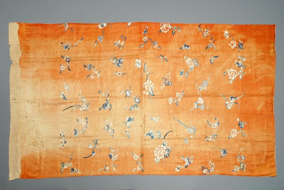 A collection of Chinese silk embroideries, 18/19th C.