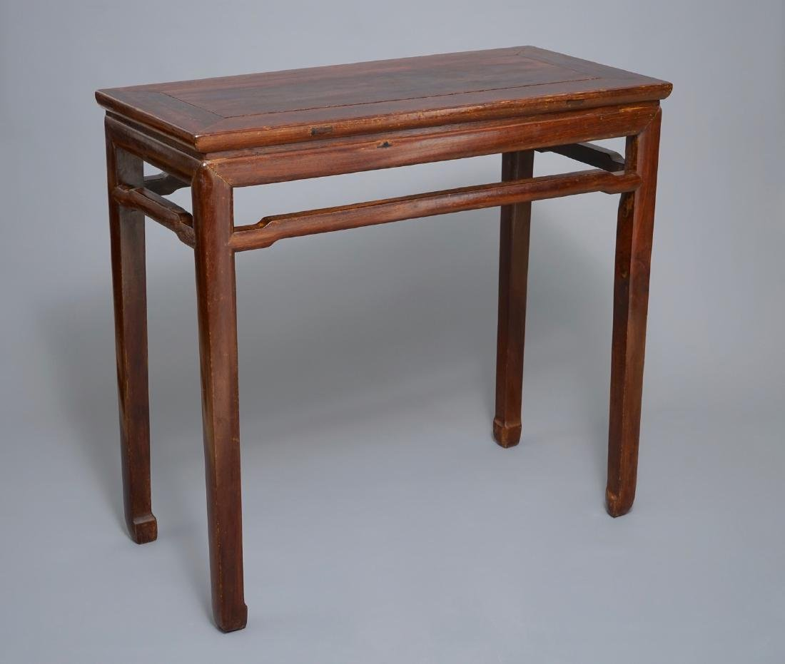 A Chinese huanghuali side table (tiaozhuo), Ming, 17th