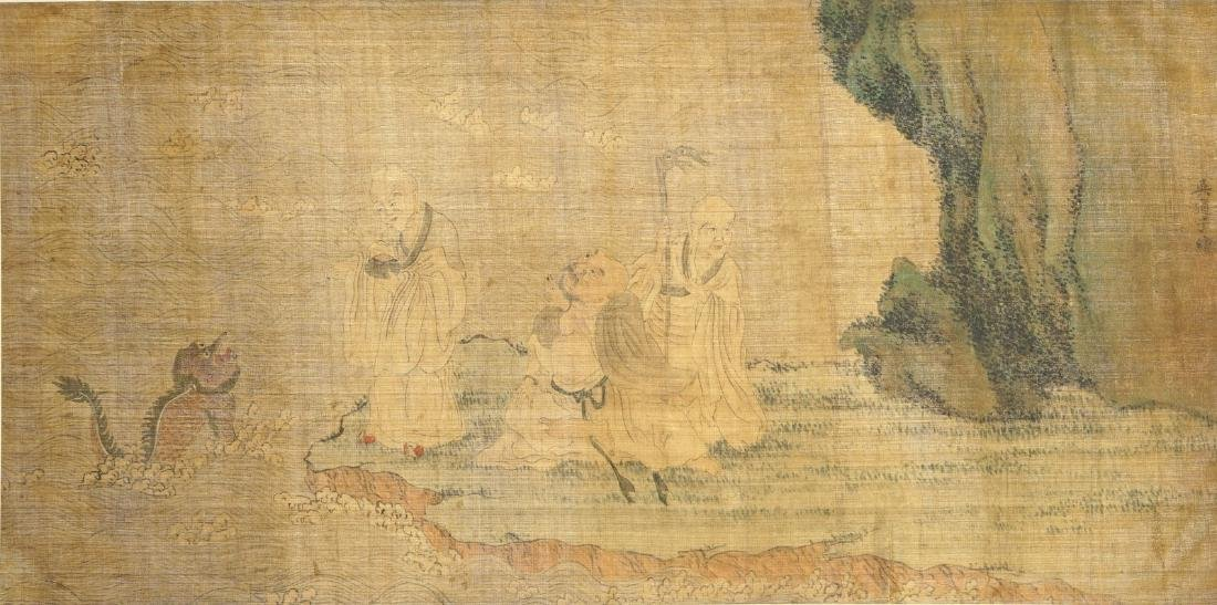 A Chinese silk painting after Wu Daozi, 18/19th C.