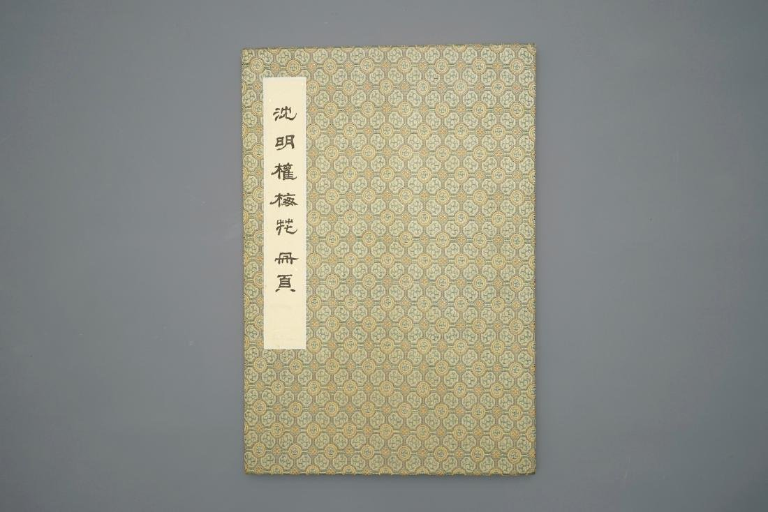 A large Chinese album with paintings of blossoming