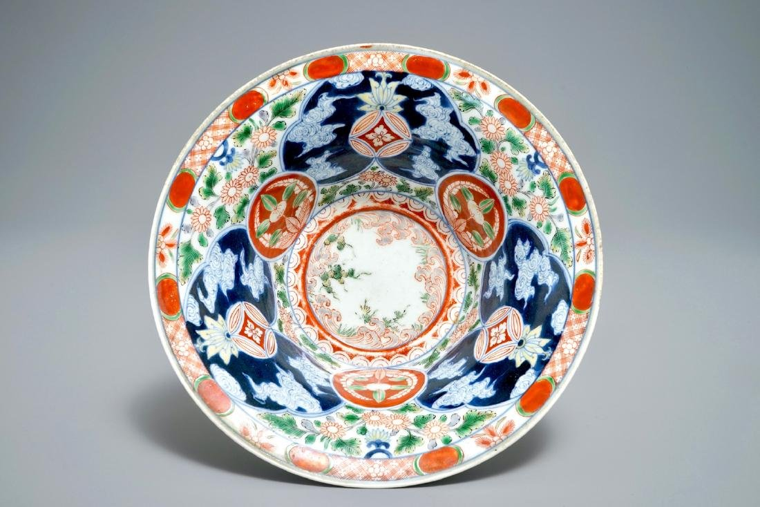 A Japanese Arita Imari-Kinrande bowl for the domestic