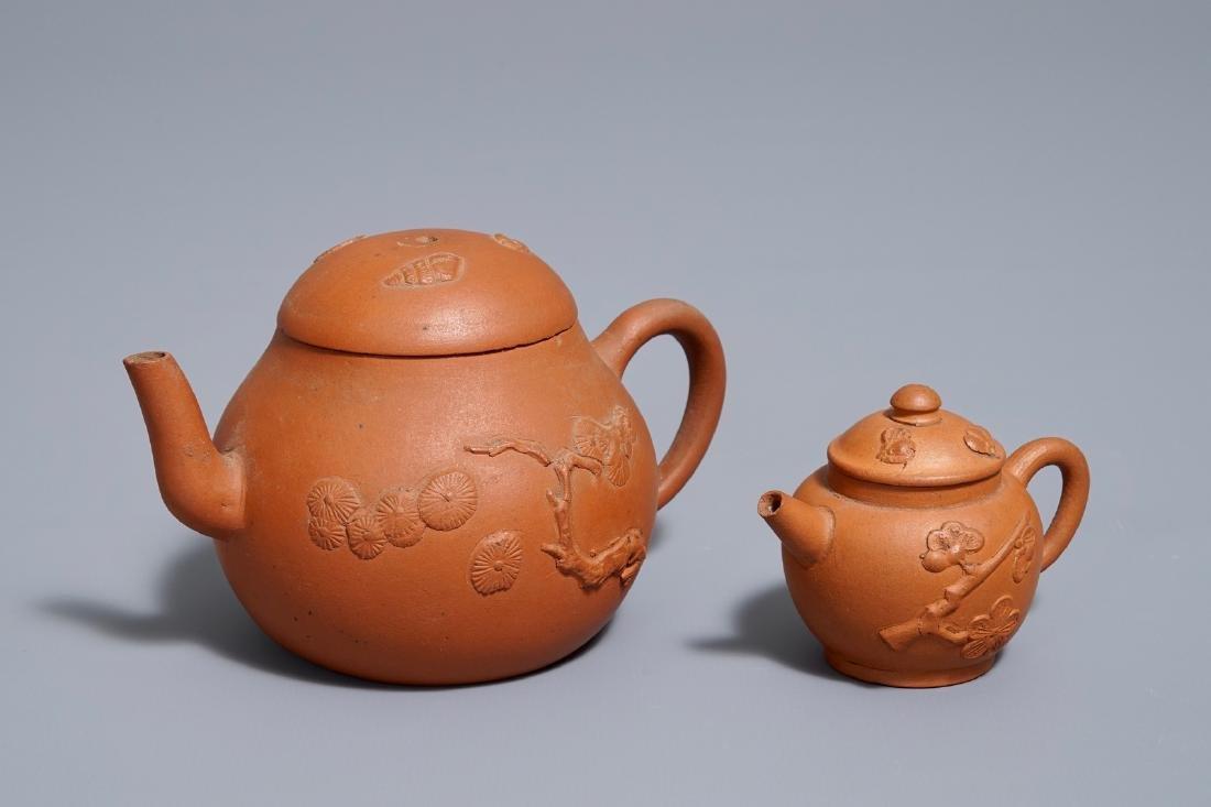 Two Chinese Yixing stoneware teapots, Kangxi