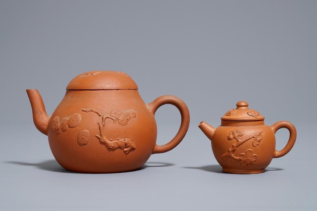Two Chinese Yixing stoneware teapots, Kangxi - 2