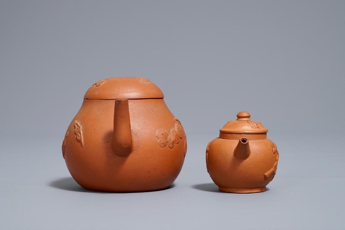 Two Chinese Yixing stoneware teapots, Kangxi - 3