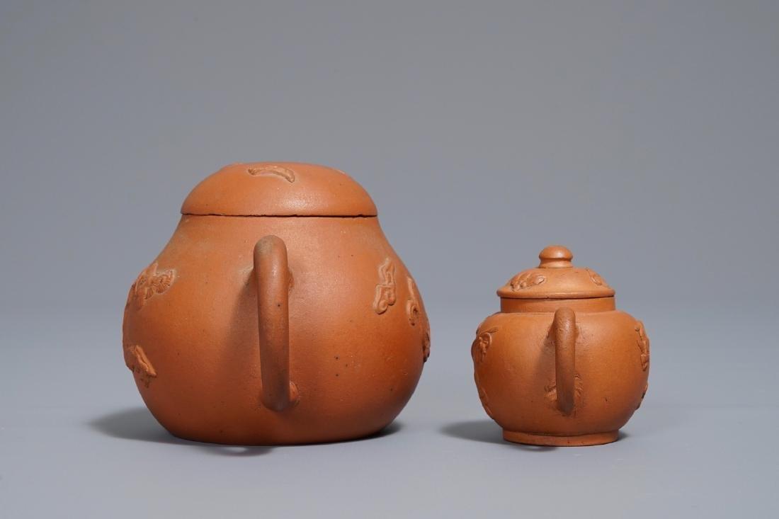 Two Chinese Yixing stoneware teapots, Kangxi - 5