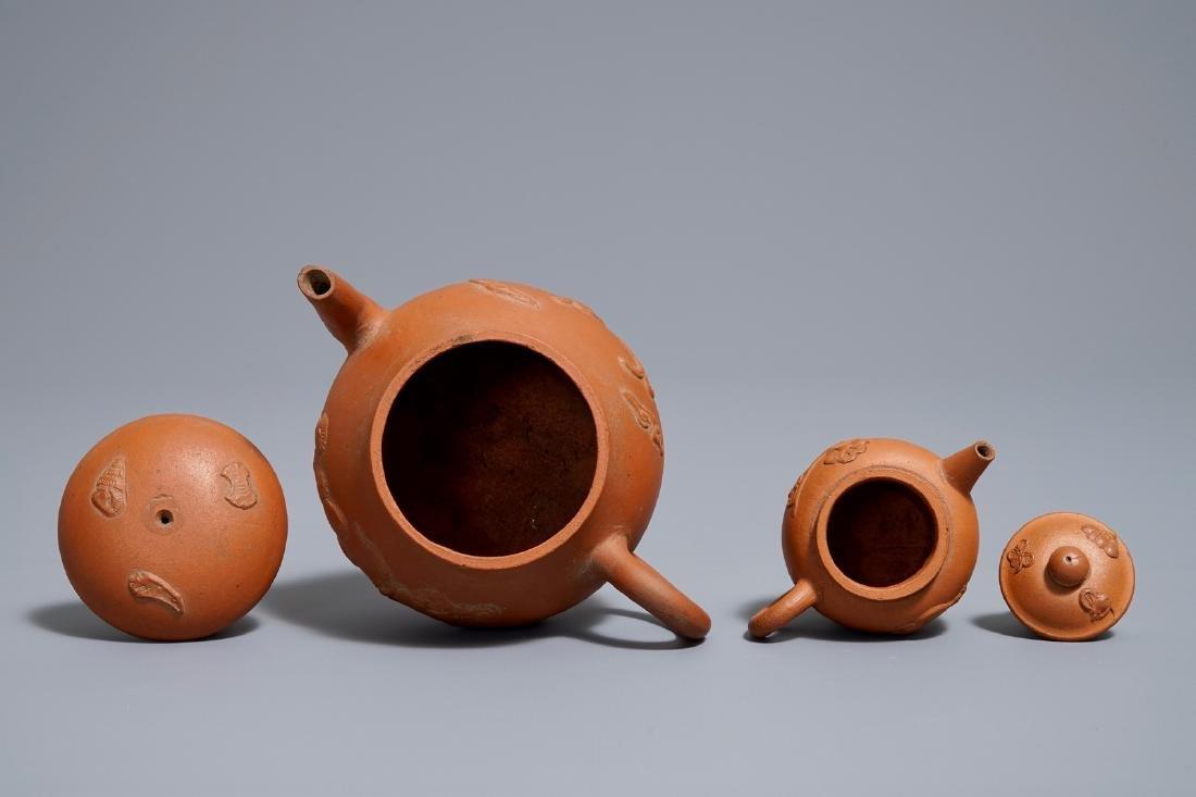 Two Chinese Yixing stoneware teapots, Kangxi - 6