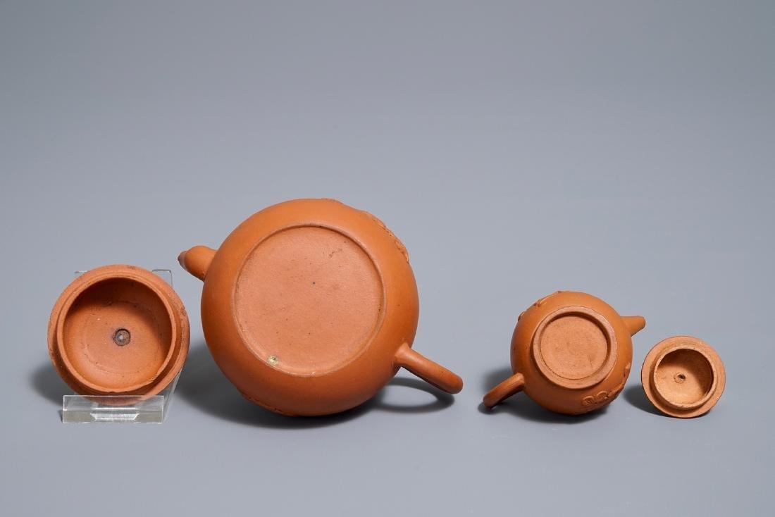Two Chinese Yixing stoneware teapots, Kangxi - 7