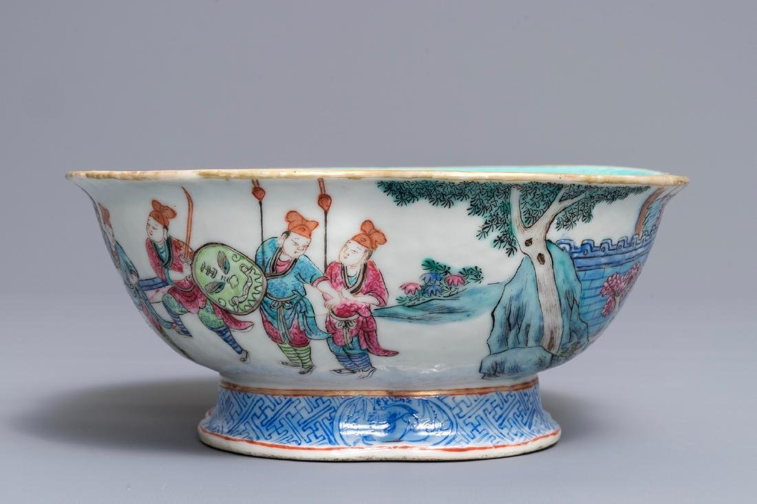 A Chinese famille rose quatre-lobed bowl, Tongzhi mark, - 5