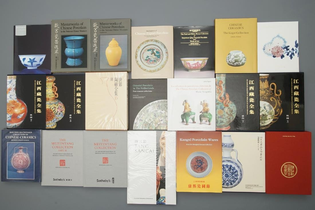 34 books on mostly Chinese Qing Dynasty porcelain,