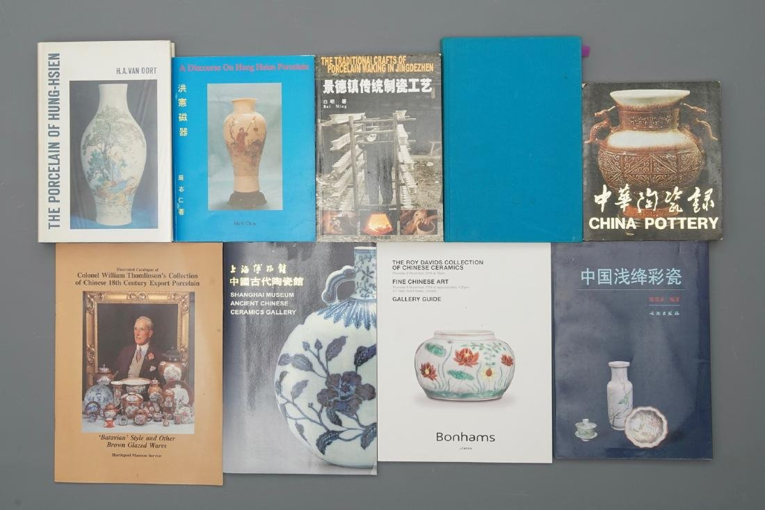 34 books on mostly Chinese Qing Dynasty porcelain, - 2