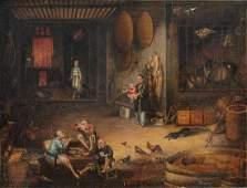Tingqua (Canton, ca. 1809-1870): A tea scene in the