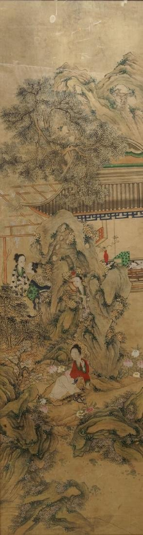 Chinese school: A view on the spring palace, 16/17th C. - 2