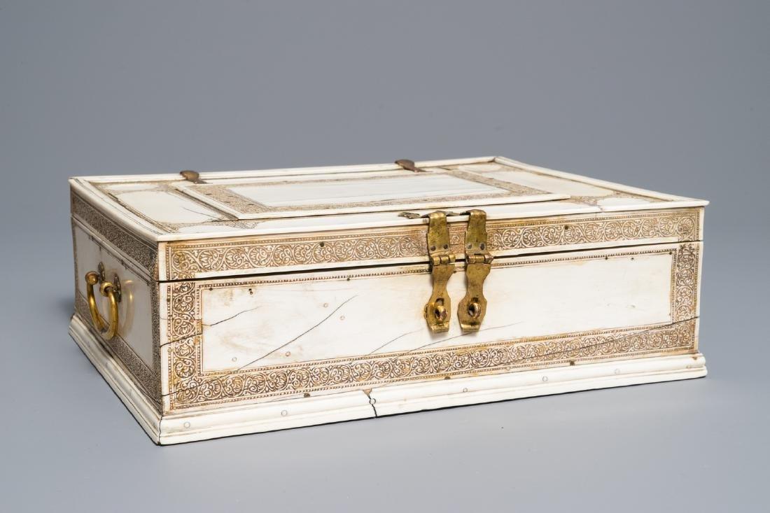 A Sinhalese veneered casket, Sri Lanka, 17/18th C