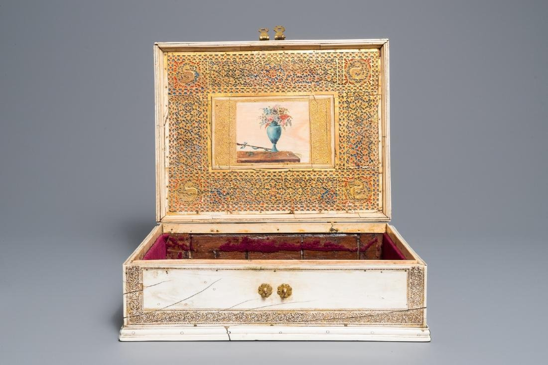 A Sinhalese veneered casket, Sri Lanka, 17/18th C - 9