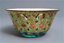 A large Chinese Thai market Bencharong bowl, 19th C.