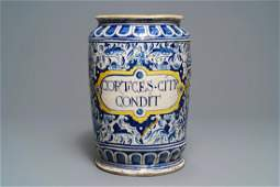 A large polychrome Antwerp maiolica 'a foglie'