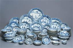 A 119-piece Chinese blue and white 'Romance of the