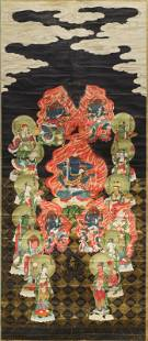 Chinese school ink and colour on paper Qing