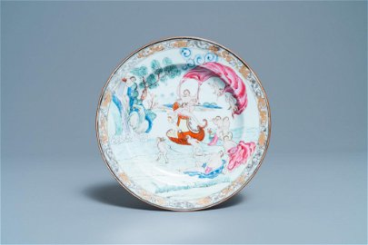 A Chinese famille rose plate, Qianlon