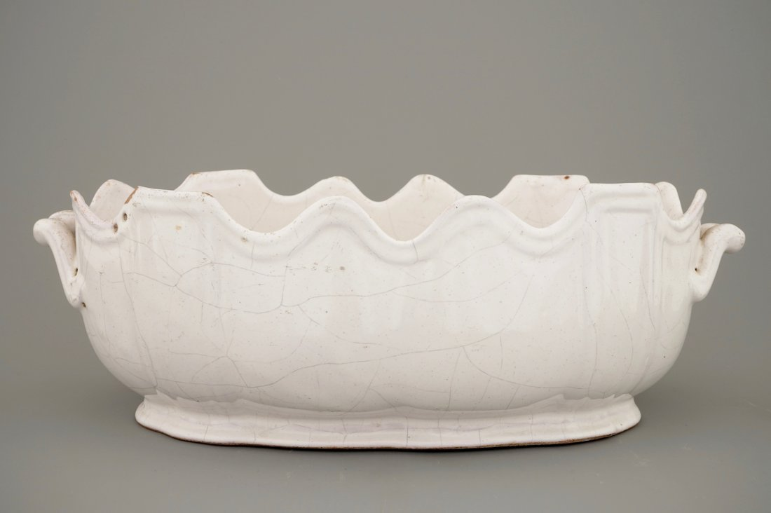 A white Delft monteith, 18th C. - 2