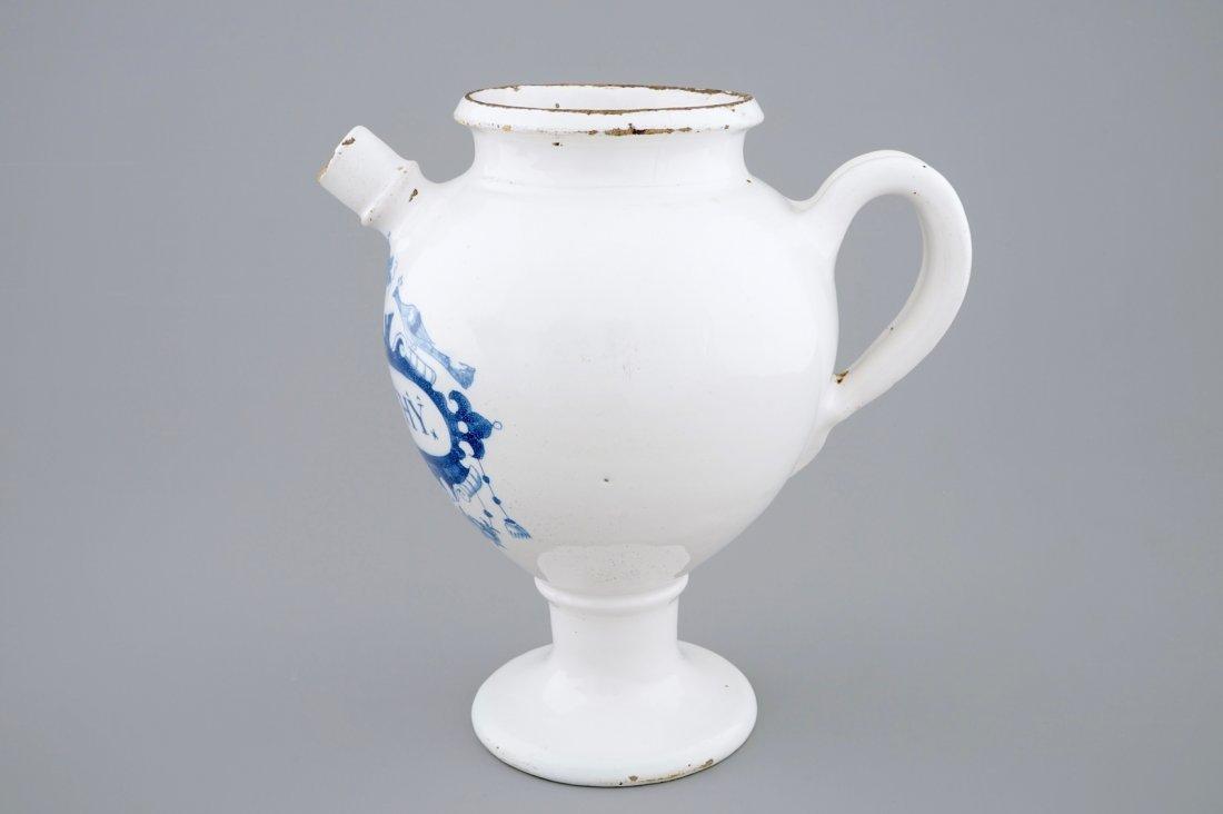 "A blue and white Dutch Delft wet drug jar ""Absinthe"", - 5"