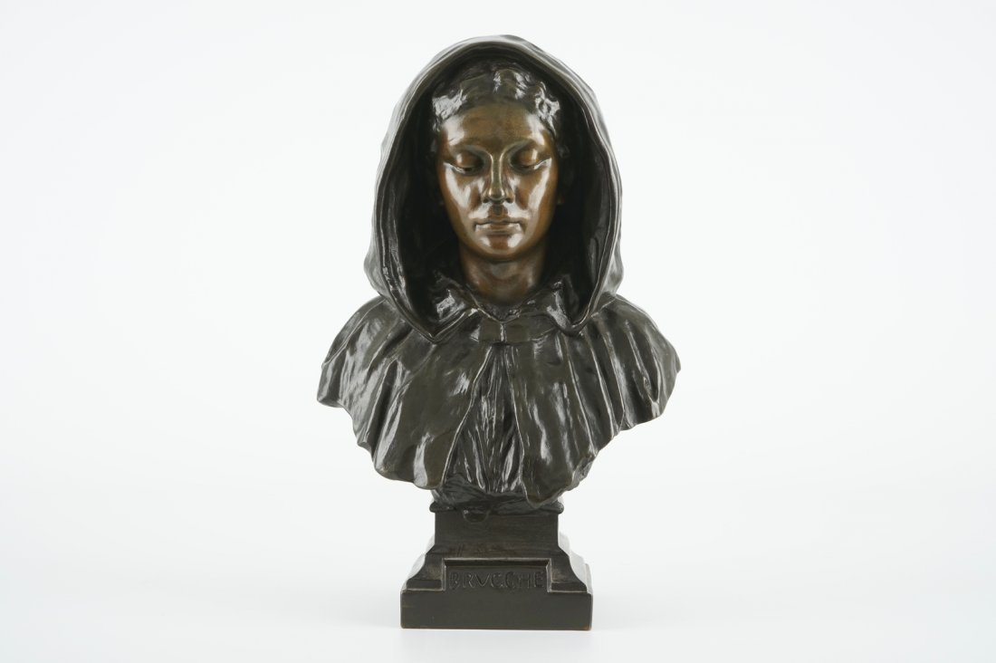 Gustave Pickery (1862-1921), A female bust inscribed