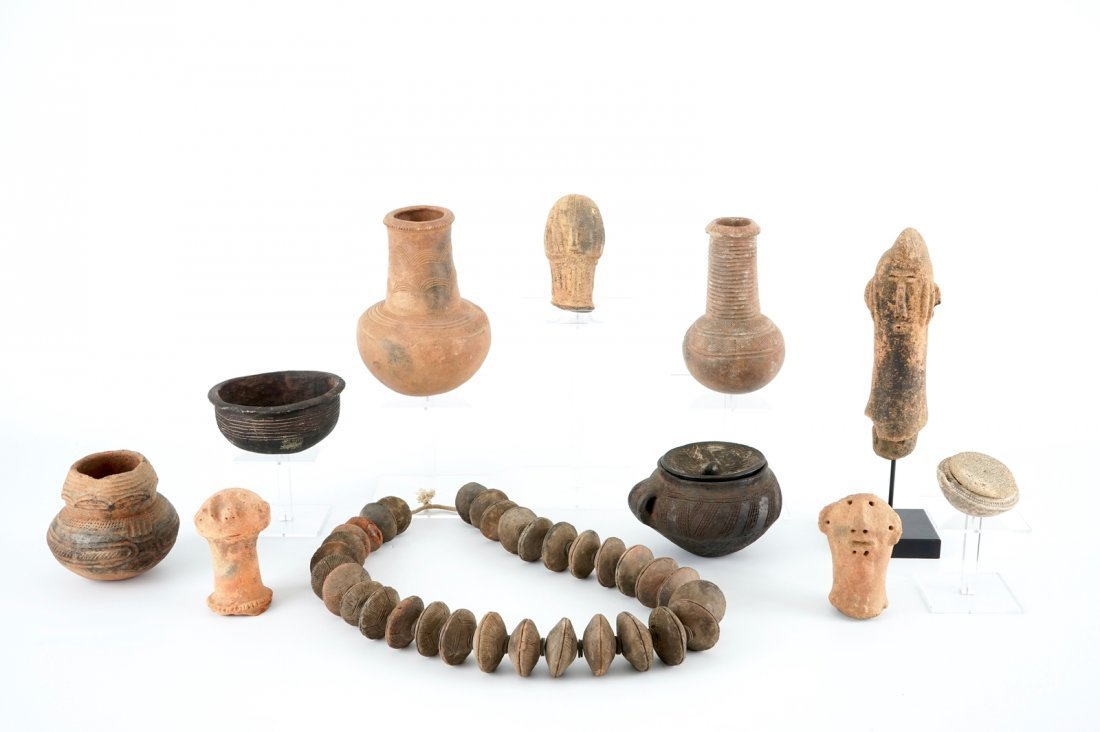 A collection of African pottery and archeology, various